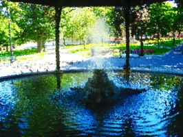Fountain Impressionistic by AllyCat1994