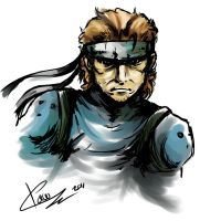 Solid Snake by lunaticpaw