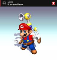 Newcomer - Sunshine Mario by clampfan101