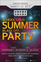 School's Out SUMMER Blast Off Party POSTER by nikolaihoe27