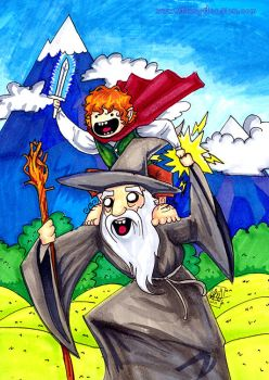 What time is it, Gandalf? by MaryDoodles