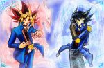 Atem and Yusei for Nahaje3000 by slifertheskydragon
