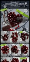Beaded Xmas Ornament TUT by Si3art