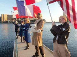 Hetalia Group cosplay by DrowningInRice