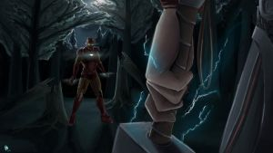 Iron Man vs Thor by GloriousRyan