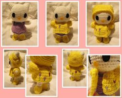 Mini Hello Kitty in a Raincoat by aphid777