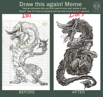 Draw this again meme - Djinn by LycanthropeHeart
