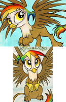 Rainbow Feather ACEOs by FoxInShadow