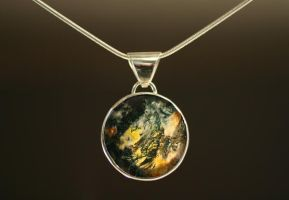 Moss Agate Pendant by HappyThawts