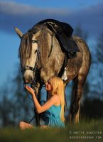 Girl And Her Lusitano by Hestefotograf