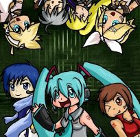 Vocaloid family by DeidaraGS