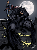 Batman and Superman by daveartwork