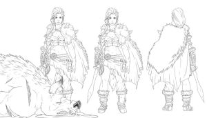 Warrior Woman Character Sheet by FooRay