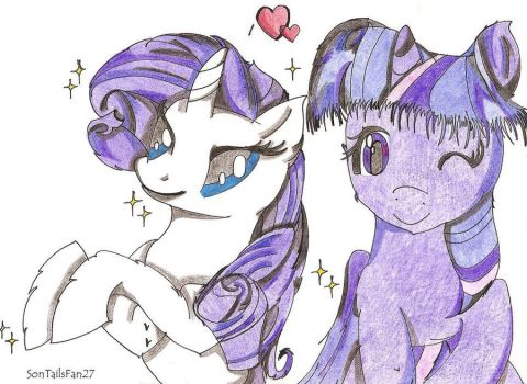 MLP FiM - Rarity and Twilight Sparkle by TheElementOfMagic