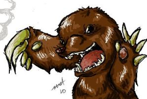 Giant mole monster of DOOM by CNat