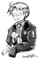 Hetalia: America and kitty Artie by NessieMcCormick