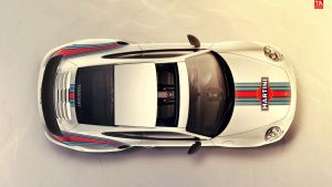 Porsche 991 Turbo S Martini Livery by Tessoart