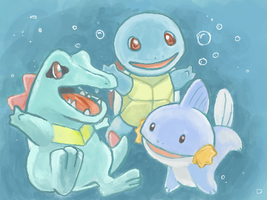 Water-Type Starters by kGoggles
