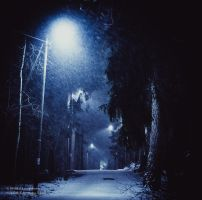 Dark Snow Street by hmcindie