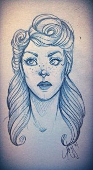 Lady face sketch dump by ambayeahart