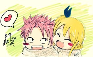 Nalu chibi by heartfilia95