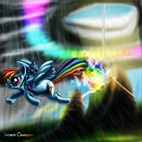 Stitch and Rainbow Dash. by NeoseekerStitch