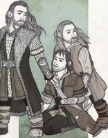 Thorin, Fili and Kili - Attack by lilis-gallery