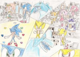Sonic vs Perfect chaos by Hannahlikesmusic