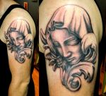 Ivan's Mary Statue Portrait with Acanthus by Sirius-Tattoo
