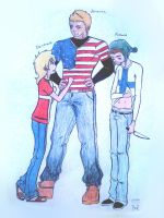 America, Denmark, and Finland-Characters by Humon by BlueRose113