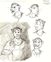 Firelights and Faces by Rehgan
