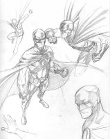 Red Robin sketches by 0boywonder0