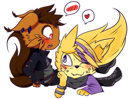 [FR] Miki and Zack by MidnightCatLuv