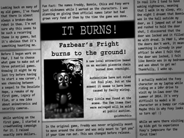 I Re-Wrote the Ending Newspaper for FNAF3 by gold94chica