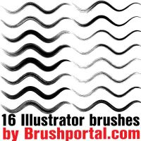 16 free Illustrator brushes by Brushportal