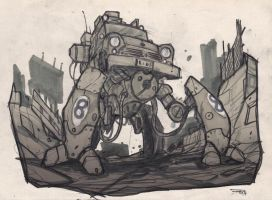 Mecha Mini Car sketch by DenisM79