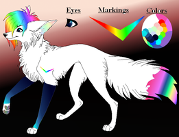 Rainbow wolf!! by fantasygirlartist124