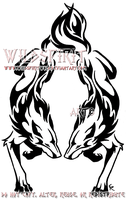 Dual Flame Wolf Tattoo by WildSpiritWolf