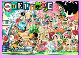 One Piece Chapter 745 Colorspread by StarDrummer