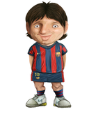 messi caricature by fatimasharw