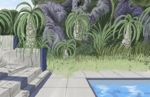 Background Jungle Pool by wbd