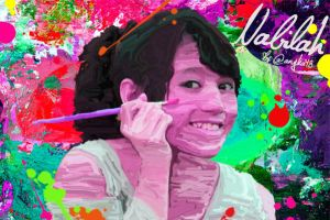 Nabilah JKT48 Hard Smudge Painting by SaintOfArt