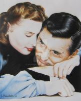 Ingrid Bergman and Cary Grant by MonsieF