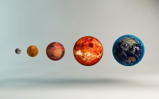 Inner Solar System Sizes by microbot23