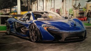 McLaren P1 Drawing by KacperMamcarcyzk