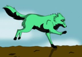 Click and I run :D wolf by AzureHowlShilach