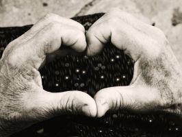 Heart by old hands. by denissede