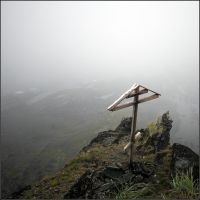 Cross on the edge of a cliff by NikolaiMalykh