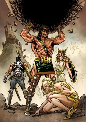 Herc, Hermes, Athena and Ares