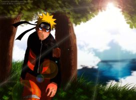 Naruto - Lineart Colored by solarwind06
